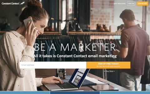 Screenshot of Home Page constantcontact.com - Email Marketing Software | Constant Contact - captured Oct. 3, 2016