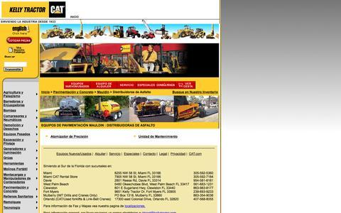 Screenshot of Landing Page kellytractor.com - Distribuidoras de Asfalto Mauldin en Kelly Tractor - captured Aug. 12, 2016