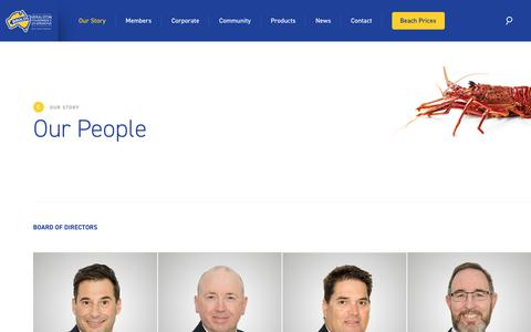 Screenshot of Team Page brolos.com.au - Our People - Geraldton Fishermen's Co-Operative - captured July 1, 2018