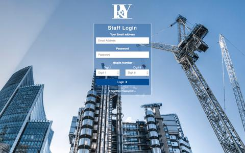 Screenshot of Login Page pycc.co.uk - PYCC Staff Administration System - captured Sept. 25, 2018