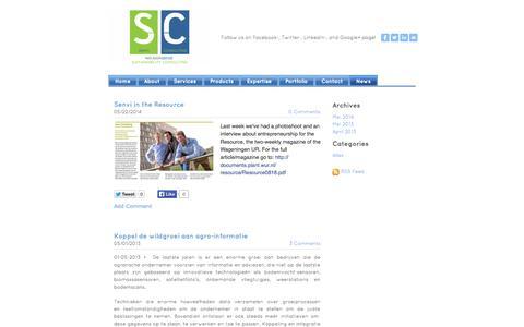 Screenshot of Press Page senviconsulting.com - Senvi Consulting - News - captured Sept. 30, 2014