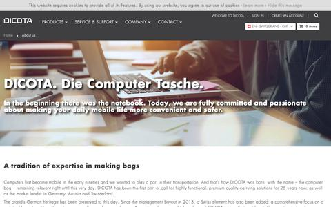 Screenshot of About Page dicota.com - About us    DICOTA - captured Nov. 6, 2018