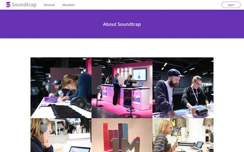 Screenshot of About Page soundtrap.com - About Soundtrap - captured Aug. 11, 2017