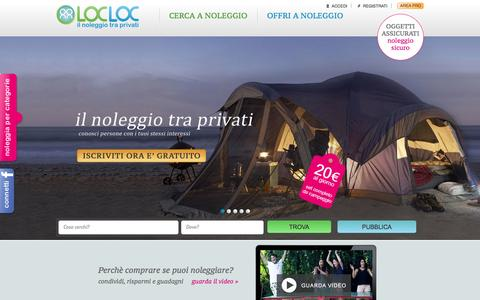 Screenshot of Home Page locloc.it - LocLoc - captured Oct. 3, 2014