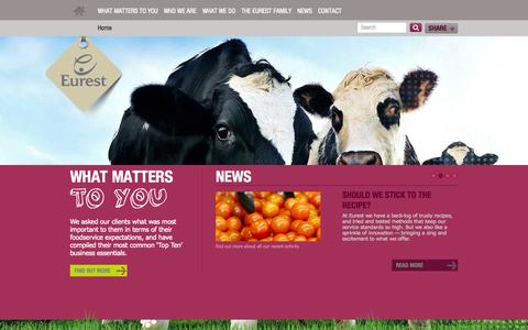 Screenshot of Home Page eurestfood.co.uk - WHAT MATTERS - Eurest Food - captured Oct. 2, 2014