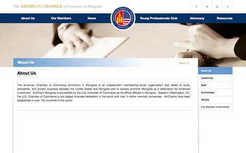 Screenshot of About Page amcham.mn - About Us | AmCham Mongolia - captured Oct. 4, 2014