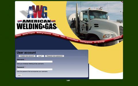 Screenshot of Login Page amwelding.com - User account | American Welding & Gas - captured Nov. 2, 2014
