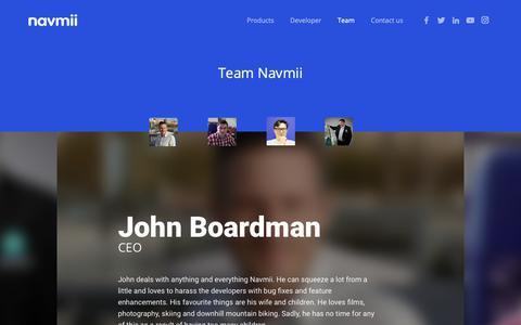 Screenshot of Team Page navmii.com - Team Full Profile - Navmii World - captured Sept. 30, 2018
