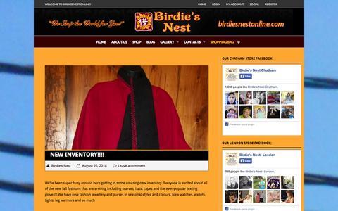Screenshot of Blog birdiesnestonline.com - Blog - Birdie's Nest Online Store - captured Oct. 5, 2014