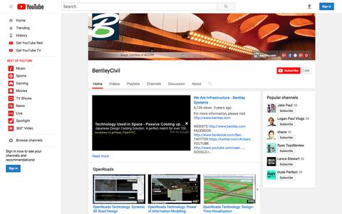 BentleyCivil  - YouTube