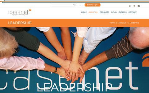 Screenshot of Team Page casenetllc.com - Casenet Executive Team | Care Management Experts - captured July 16, 2018