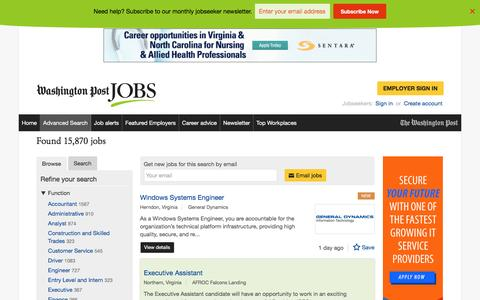 Screenshot of Jobs Page washingtonpost.com - Browse jobs | Washington Post Jobs | page 5 - captured Oct. 30, 2016
