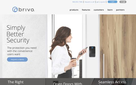 Screenshot of Home Page brivo.com - Cloud Access Control By Brivo - captured Sept. 23, 2019