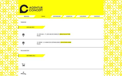 Screenshot of Press Page agenturconcept.de - Agentur Concept - News, Termine, Neuigkeiten - captured Sept. 30, 2014