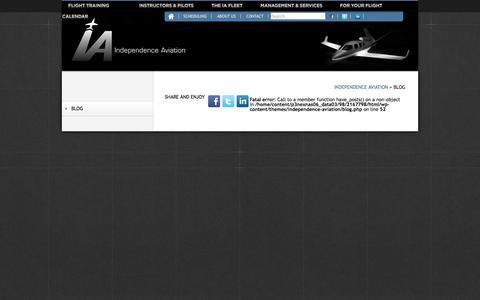 Screenshot of Blog ia-kapa.com - Blog «  Independence Aviation - captured Oct. 6, 2014