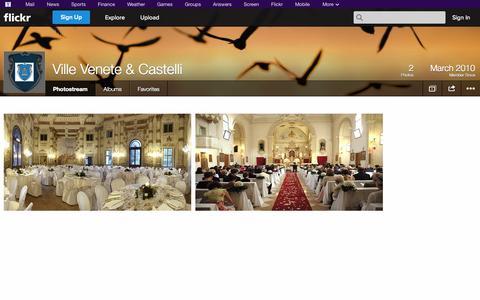 Screenshot of Flickr Page flickr.com - Flickr: Ville Venete & Castelli's Photostream - captured Oct. 23, 2014