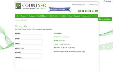 Contact Us | Count SEO http://www.countseo.com/