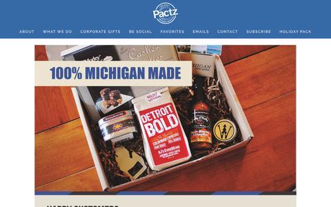 Screenshot of Contact Page pactz.com - Corporate Gifts Ń Pactz - captured Dec. 6, 2015