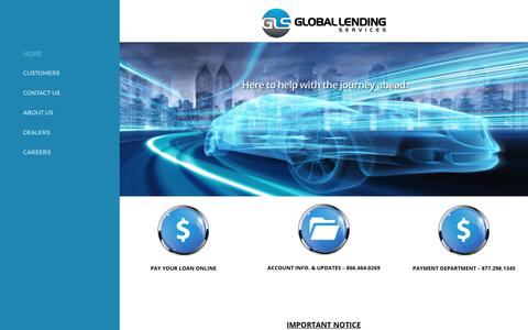 Screenshot of Home Page glsllc.com - Global Lending – Make a Payment - captured Aug. 9, 2017