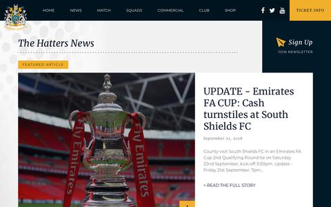 Screenshot of Press Page stockportcounty.com - News - Stockport County - captured Sept. 23, 2018