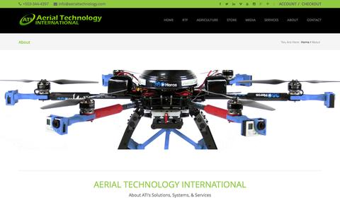 Screenshot of About Page aerialtechnology.com - About - captured Feb. 5, 2016