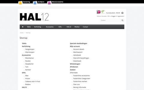 Screenshot of Site Map Page hal12.nl - Sitemap - captured Dec. 7, 2018