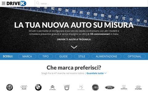 Screenshot of Home Page drivek.it - DriveK 2015 - configuratore auto nuove e richiesta preventivi - captured Dec. 4, 2015