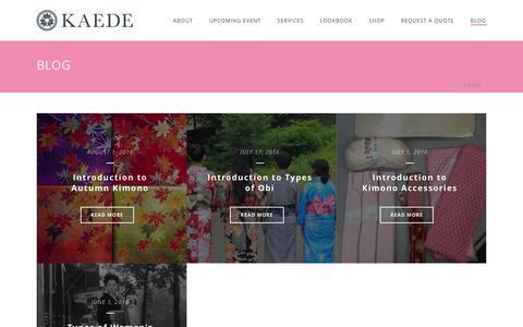 Screenshot of Blog kaedenyc.com - Blog Archives - KaedeNYC LLC - captured Aug. 8, 2016
