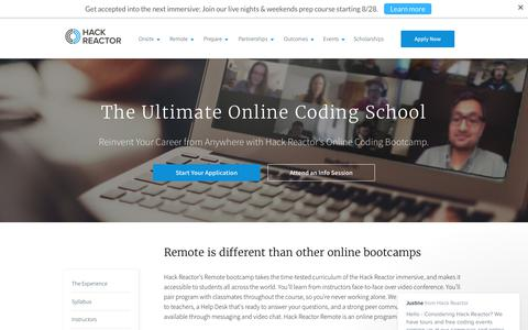 Online Coding and Web Development Bootcamp   Hack Reactor