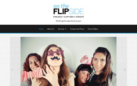 Screenshot of Home Page flipsidexperience.com - Interactive photography experiences for marketing and events. - Flipside Experience - captured Oct. 20, 2018