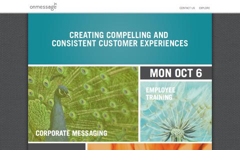 Screenshot of Home Page itsonmessage.com - Marketing Agency | OnMessage - captured Oct. 6, 2014