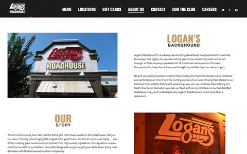 Screenshot of About Page logansroadhouse.com - About Us - Logans Roadhouse - captured May 5, 2017