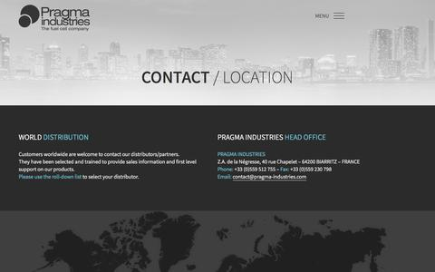 Screenshot of Contact Page pragma-industries.com - CONTACT – Pragma Industries - captured July 21, 2018