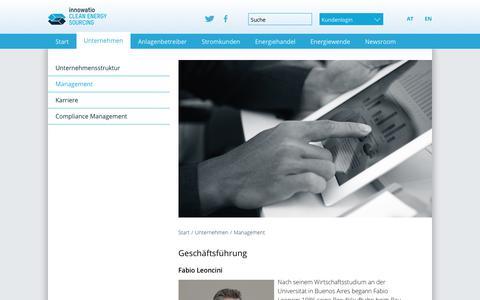 Screenshot of Team Page clens.eu - Clean Energy Sourcing - Wir liefern Grünstrom für Großkunden: Management - captured Aug. 2, 2017
