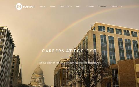 Screenshot of Jobs Page popdotmarketing.com - Careers at Pop-Dot •  Strategic Marketing Jobs in Madison, WI - captured Nov. 21, 2015