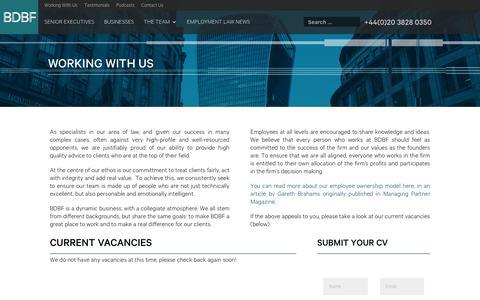 Screenshot of Jobs Page bdbf.co.uk - Working With Us » BDBF LLP - captured Oct. 6, 2018