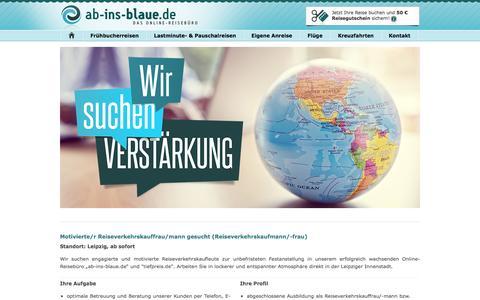 Screenshot of Jobs Page ab-ins-blaue.de - Alle Stellenangebote - captured Aug. 27, 2016