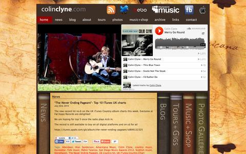 Screenshot of Home Page colinclyne.com - Colin Clyne - captured Oct. 3, 2014