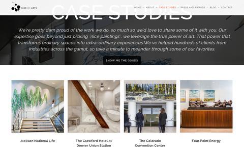 Screenshot of Case Studies Page ninedotarts.com - Corporate Art Consulting Case Studies | NINE dot ARTS - captured June 10, 2017