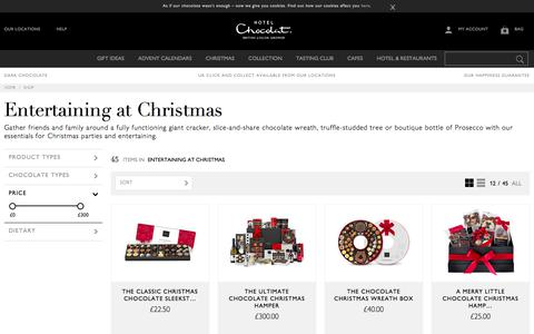 Entertaining with chocolate by Hotel Chocolat