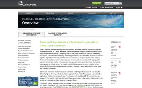 Screenshot of Products Page cdnetworks.com - Global Cloud Acceleration | CDNetworks - captured Sept. 13, 2014