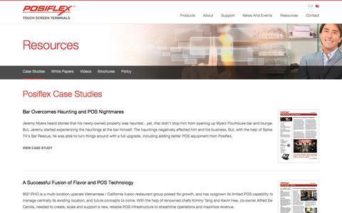 Screenshot of Case Studies Page posiflexusa.com - Posiflex USA | Case Studies - captured July 6, 2016