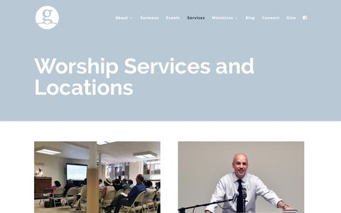 Screenshot of Services Page nycgrace.org - Services   Grace Baptist Church - captured Sept. 30, 2018