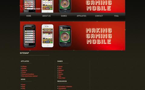 Screenshot of Site Map Page smallscreencasinos.com - Small Screen Casinos - captured Oct. 9, 2014