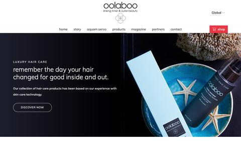 Screenshot of Products Page oolaboo.com - oolaboo - captured Oct. 19, 2018