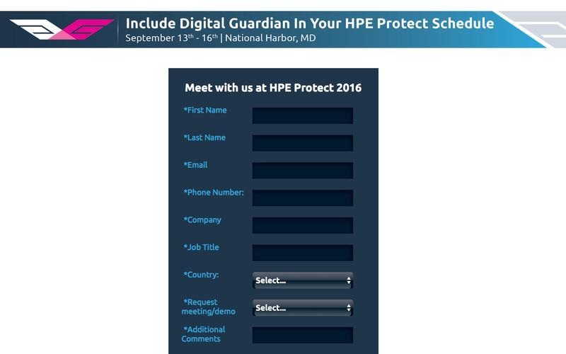 See Digital Guardian at HPE Protect