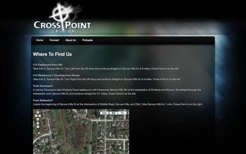 Screenshot of Maps & Directions Page qccrosspoint.org - Cross Point Church  » Where To Find Us - captured Oct. 3, 2014