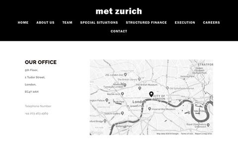 Screenshot of Contact Page metzurich.com - Contact — Met Zurich - captured Oct. 18, 2018