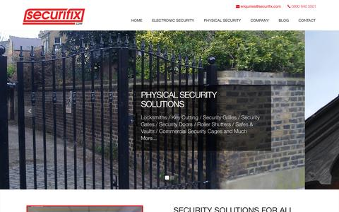 Screenshot of Home Page securifix.com - Securifix - Business & Home Security Solutions in London - captured Jan. 23, 2015