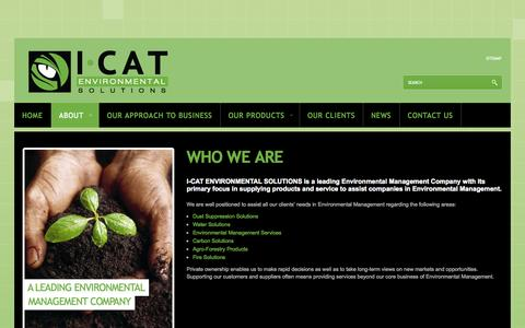 Screenshot of About Page i-cat.co.za - Who we are - I-CAT Environmental Solutions - captured Oct. 3, 2014